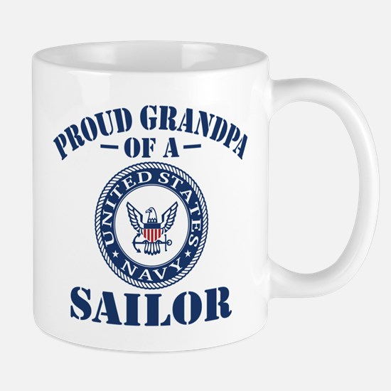 Proud Grandpa Of A US Navy Sailor Mug