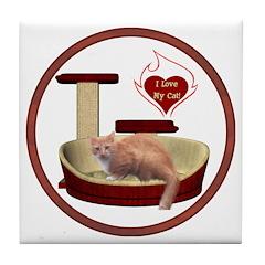 Cat #3 Tile Coaster