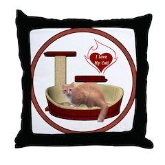 Cat #3 Throw Pillow