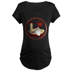 Cat #4 Maternity Dark T-Shirt