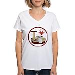 Cat #4 Women's V-Neck T-Shirt