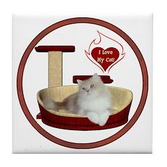Cat #4 Tile Coaster