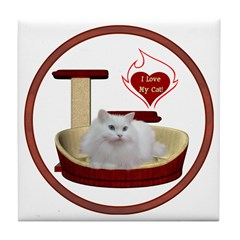 Cat #5 Tile Coaster