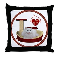 Cat #5 Throw Pillow