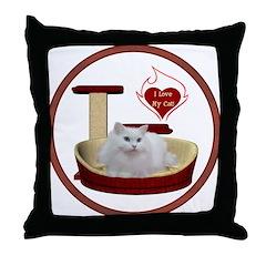 Cat #5 Throw Pillow