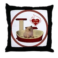 Cat #6 Throw Pillow