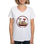 Cat #7 Women's V-Neck T-Shirt