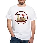 Cat #7 White T-Shirt