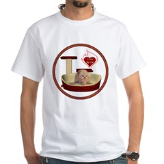 Cat #7 White T-Shirt