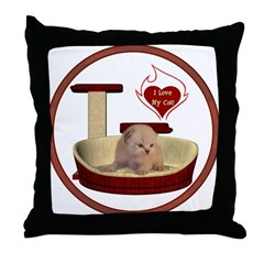 Cat #7 Throw Pillow
