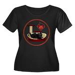 Cat #8 Women's Plus Size Scoop Neck Dark T-Shirt
