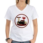 Cat #8 Women's V-Neck T-Shirt