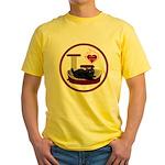 Cat #8 Yellow T-Shirt