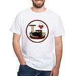 Cat #8 White T-Shirt