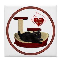 Cat #8 Tile Coaster