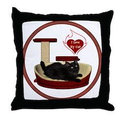 Cat #8 Throw Pillow