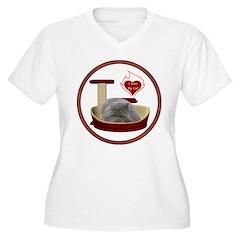 Cat #9 Women's Plus Size V-Neck T-Shirt