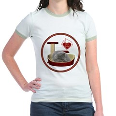 Cat #9 Jr. Ringer T-Shirt