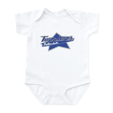 Baseball Patterdale Terrier Baby Bodysuit