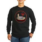 Cat #10 Long Sleeve Dark T-Shirt