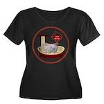 Cat #10 Women's Plus Size Scoop Neck Dark T-Shirt