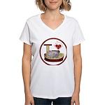 Cat #10 Women's V-Neck T-Shirt