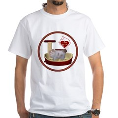 Cat #10 White T-Shirt