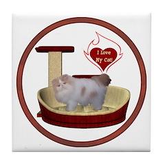 Cat #10 Tile Coaster