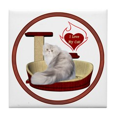 Cat #11 Tile Coaster
