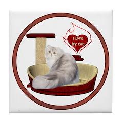 Cat #11 Tile Coaster