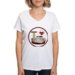 Cat #12 Women's V-Neck T-Shirt