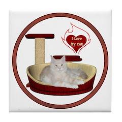 Cat #12 Tile Coaster