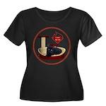 Cat #13 Women's Plus Size Scoop Neck Dark T-Shirt