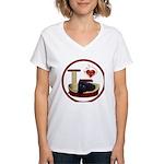 Cat #13 Women's V-Neck T-Shirt