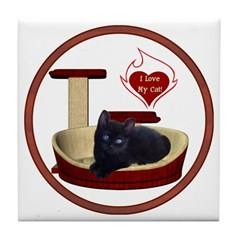 Cat #13 Tile Coaster
