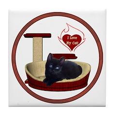 Cat #13 Tile Coaster