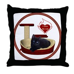 Cat #13 Throw Pillow