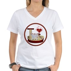Cat #14 Women's V-Neck T-Shirt