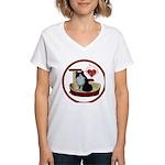 Cat #15 Women's V-Neck T-Shirt