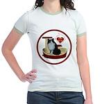 Cat #15 Jr. Ringer T-Shirt