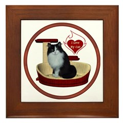 Cat #15 Framed Tile