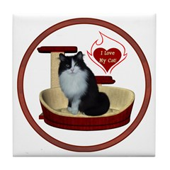 Cat #15 Tile Coaster