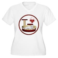Cat #16 Women's Plus Size V-Neck T-Shirt
