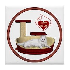 Cat #16 Tile Coaster
