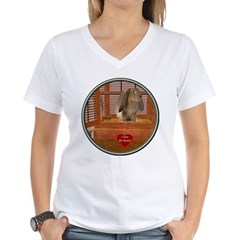 Bunny #2 Women's V-Neck T-Shirt