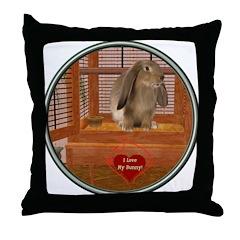 Bunny #2 Throw Pillow