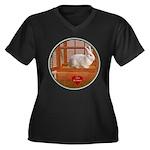 Bunny #3 Women's Plus Size V-Neck Dark T-Shirt