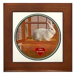 Bunny #3 Framed Tile