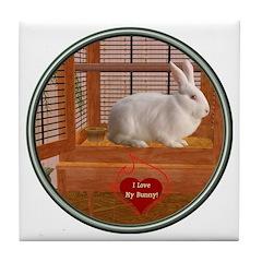 Bunny #3 Tile Coaster
