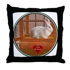 Bunny #3 Throw Pillow